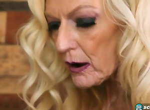 Blond granny wants cock