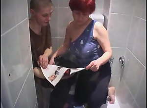 Russian Mom Catches Son Jerking in the Bathroom:..