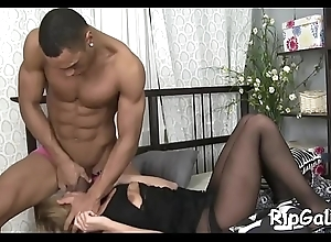 Watch newcomer disabuse of bottomless throat to wild anal shacking up action relevant now