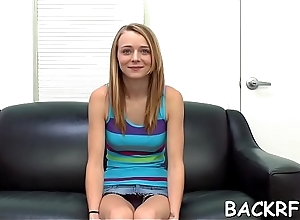 Salacious vixen welcomes a youthful interviewer to fuck her vagina