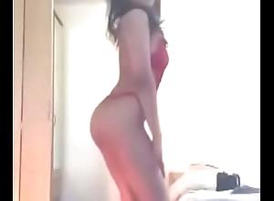 Sexy Muslim girl strips