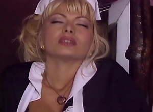 Blowjob and anal with maid Lea Martini, upscaled..