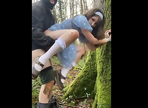 Belle Delphine tied up, forced to fuck and facialized