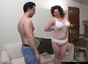 Grandma with big tits is sexually frustrated