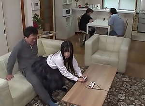 Schoolgirl Teen Japanese Cute Fucks With Her Dad..