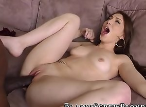 Brunette gobbles bbc and gets banged