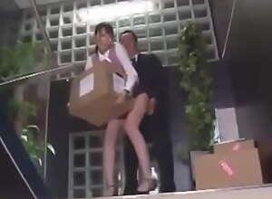 Japanese skirt miniskirt fucked in the office