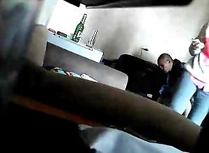 Roommate sleety aloft hidden bootlace camera shafting his girlf...