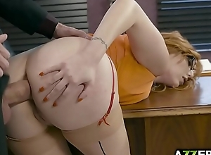 Shove around redhead lauren phillips bonks with her boss