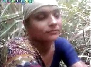 Desi village aunty getting drilled open-air