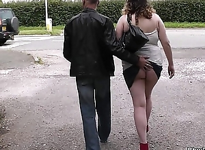 Busty bulky picked up wits stranger