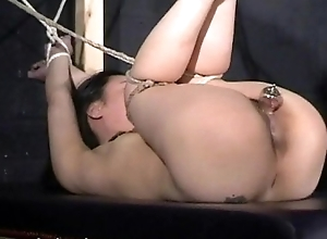 Japanese bastinado increased by love drill-hole pang