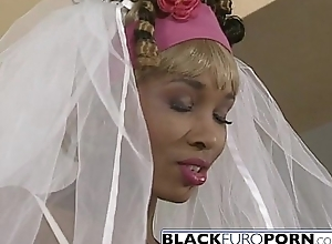 Ebony bride gets pounded apart from famously..