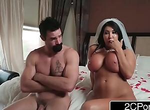 Gorgeous bride august taylor cheats on her..