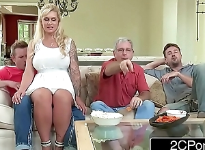 Curvy stepmom ryan conner takes her stepson's youthful weenie