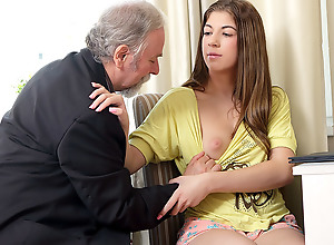 Rita's tutor is one horny old man, as a result..