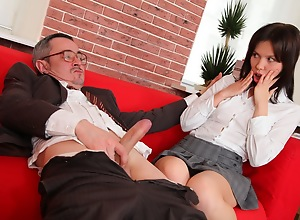 A great tricky old school video with two babes..