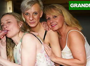 Trine Blonde Granny Orgy