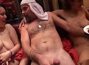 Swingers with sheikh and big-busted mature