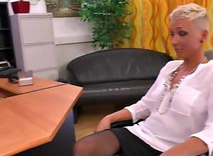 German milf Mandy fucks with their way Boss