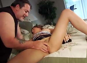 Daddy Makes Slut's Pussy Squirt