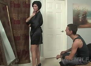 My MILF stepmom is coition bomb in jet-black