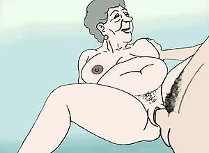 Horny Granny Cartoon that will have you cum in..