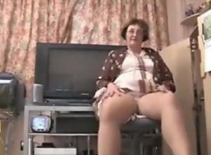 British granny strips empty for you