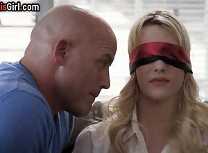Fastened Blonde Materfamilias Cheats with..