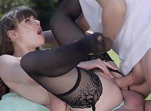 Petite French cookie hither stocking gets DPed..