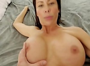 Bigtits MILF mom strips naked for young horny..