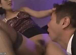 Japanese horny housewife in stockings wants to..