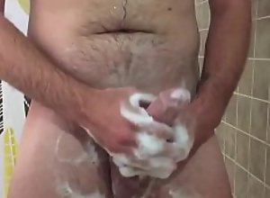 Step Son Jerks Off In The Shower While Mom Is In..