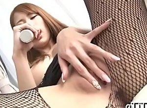 Slutty woman Nami Itoshino is showing her big..