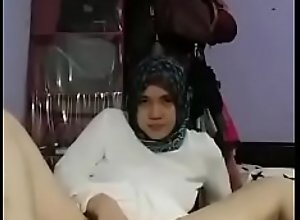 asian tudung girl strip and fingers