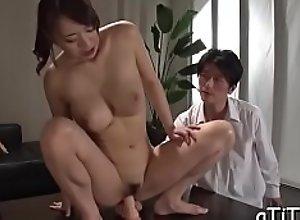Sampling large boobs asian's juicy cunt