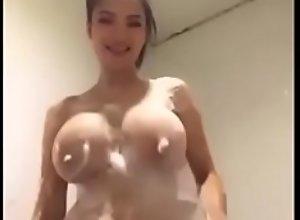 Jumbo Tits In A Bathroom Give A VCS