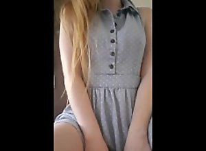 Cute Pale Ginger Whimpers When She Cums Hard In..