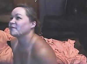 Amateur wives with cum splashed faces