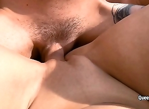 Kira Queen hot POV blowjob and making out