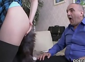 Sensual schoolgirl is tempted and reamed by..
