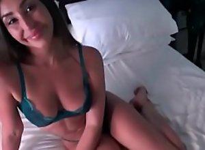 Brunette mom teaches son sex