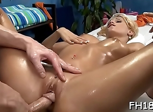 Sexy 18 year elderly gril gets fucked fixed doggy appearance unconnected with their way massage therapist