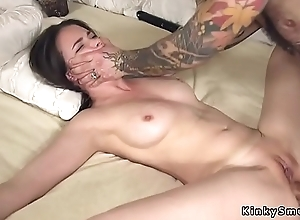 Affianced spreded slave anal fucked