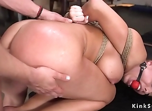 Curved blonde concomitant anal fuck family