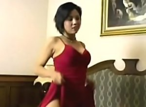 Silicon Titted Thai bimbo ejaculated in by BBC
