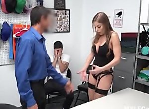Cop Fucks Stealing MILF In Front Of Her Son-..