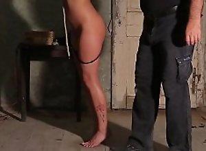 Preparing slave for punishment