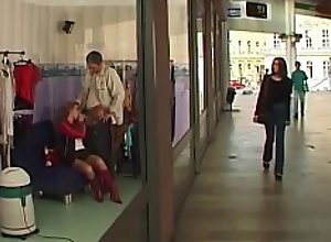 stepsister brutal anal at public shopping mall